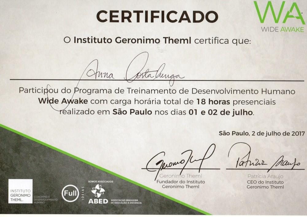 Certificado WA