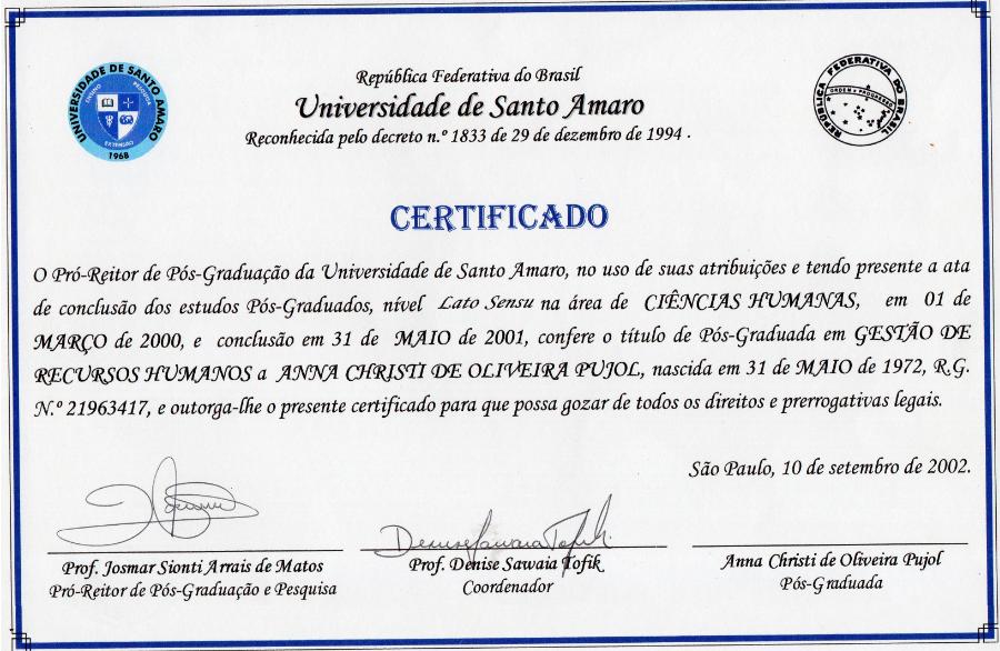 Pos Graduação