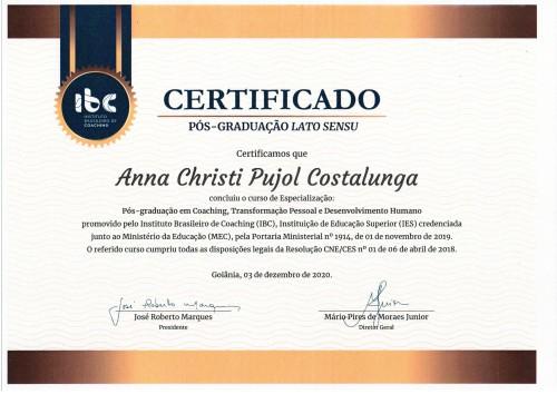 Pós Graduação Coaching - Transformação Pessoal - Desenvolvimento Humano